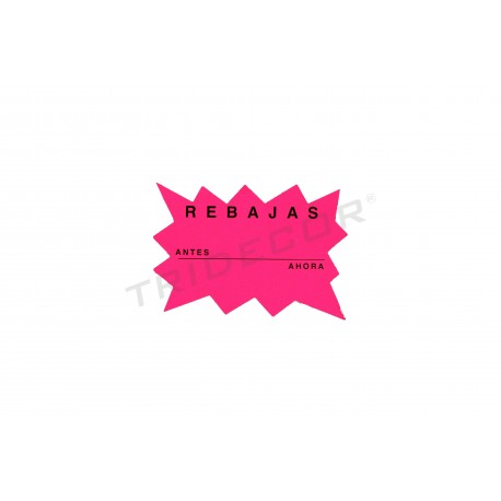 Poster, Markdown, Before and Now. Color fuchsia, small, tridecor
