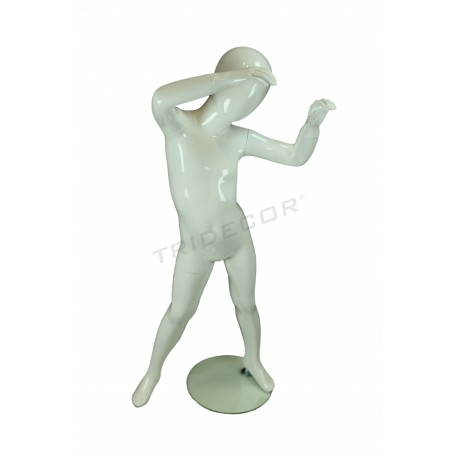 Mannequin child fiber glass color gloss white 6 years