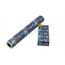 GIFT WRAPPING PAPER BLUE PRINT CHRISTMAS MOTIFS 62CM