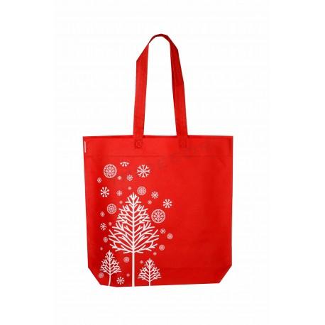 Bossa de tela 40x42cm vermell de nadal motius-12 unitats