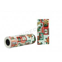 Papel de regalo blanco motivos navideños 31cm