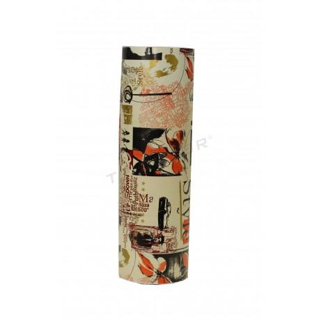 Papel de regalo crema estampado 31cm