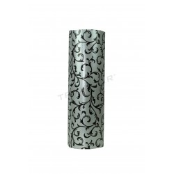 Gift paper silver stamping black 31cm