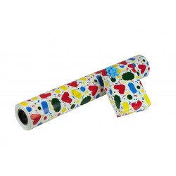 PAPER GIFT SPOTS OF COLORS WHITE BACKGROUND 62 CM