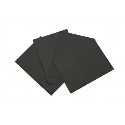 Tecido de papel negro 50x75cm 100 unidades