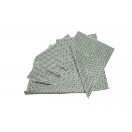 Paper de seda blanca de plata estrelles 75x50cm 100 unitats