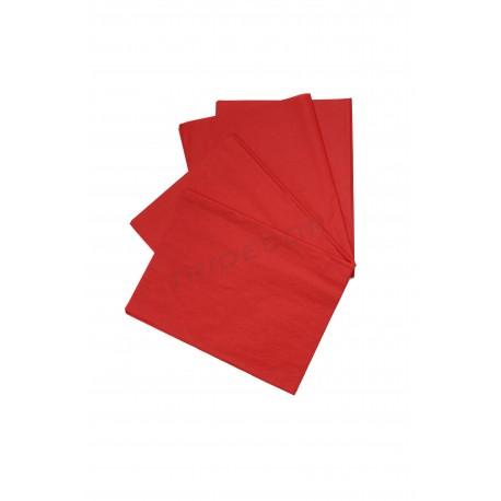 Papel de seda vermelho 75x50cm 100 unidades