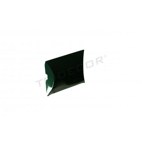 Sobre para regalos. Cartón, verde. 8x8+2.5cm. 50 uds, tridecor