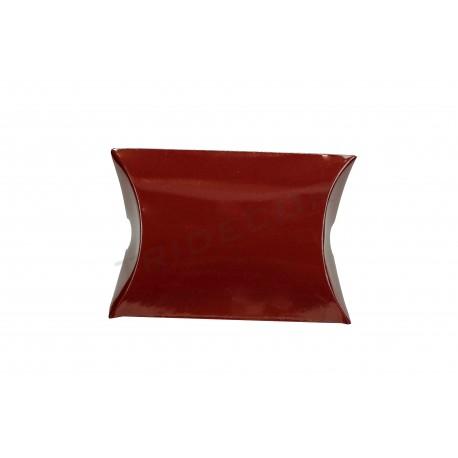 Envelope de papelão marrom para presentes 6.5x6.5+2.5 cm 50 unidades