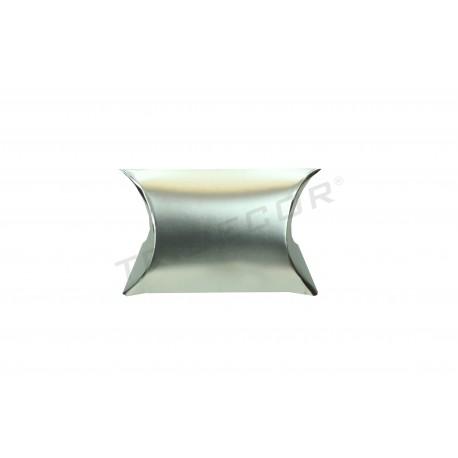 Cardboard silver gift 6x5+2.5 cm 50 units