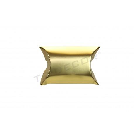 Sobre para regalos. Cartón, dorado. 6x5+2.5 cm. 50 uds. tridecor