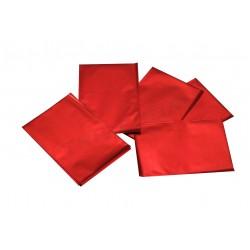 In plastica colore rosso metallizzato 15x10cm 100 unità