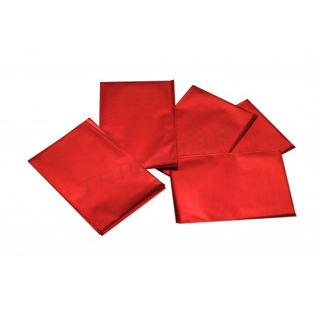 On plastic metallic red 15x10cm 100 units
