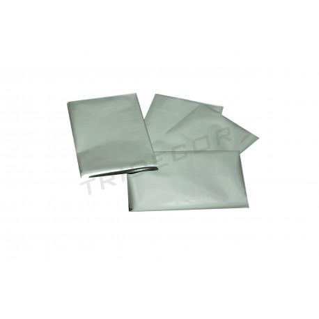In plastica argento metallizzato 15x10cm 100 unità