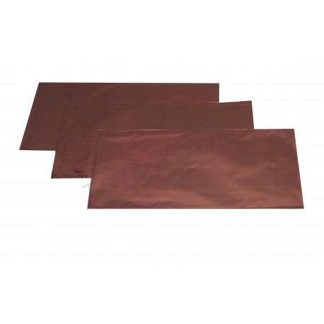 Sobre de plástico metalizado marrón 25x15cm 100 unidades