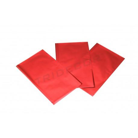 Envelope plástico metalizado vermelho 25x15cm 100 unidades