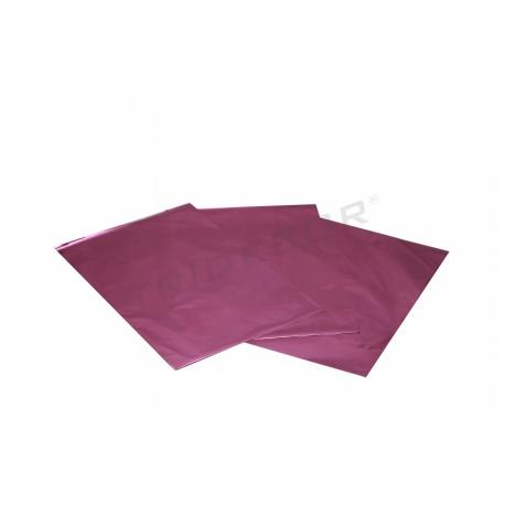 Sobre de plàstic de color rosa metàl·lica 25x15cm 100 unitats