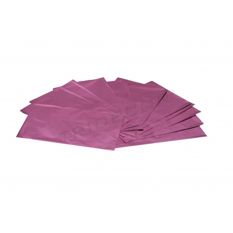 About plastic pink metallic 40x25cm 100 units