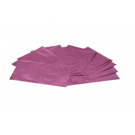 Sobre de plástico metalizado rosa 40x25cm 100 unidades