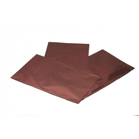 Sobre de plástico metalizado vino 40x25cm 50 unidades