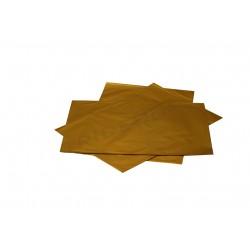 Envelope plástico metalizado ouro 50x35cm 50 unidades
