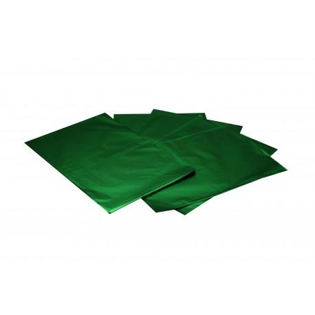 Envelope plástico metalizado verde 50x35cm 50 unidades