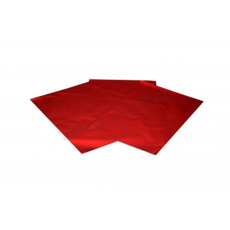 On plastic metallic red 50x35cm 50 units