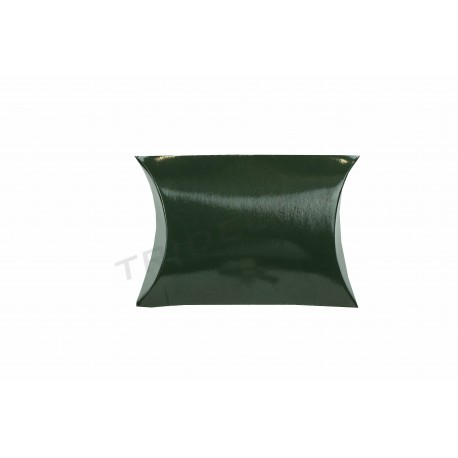 Sobre para regalo, cartón verde. 7x7x2.5 cm. 50 uds, tridecor