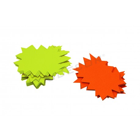 Cartaz ofertas reversível. Amarelo e laranja. 50 pçs. tridecor