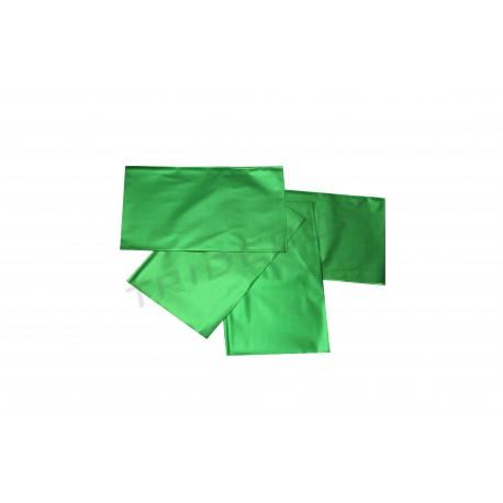 Sobre de plástico metalizado verde 25x15cm 100 unidades
