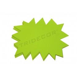 014330 Cartel para ofertas, reversible. Amarillo y naranja 25 unidades, tridecor