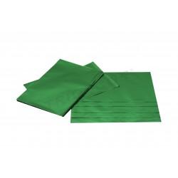 En plástico metálicos verdes 40x25cm 50 unidades