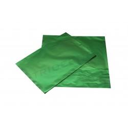 En plástico metálicos verdes 40x60cm 50 unidades