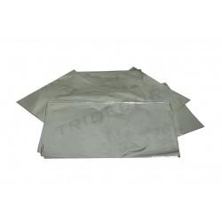 SOBRE DE PLASTICO METALIZADO PLATA 40X60 CM 50 UNIDADES
