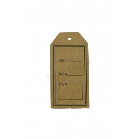 014855 Etiqueta perforada papel kraft. Tridecor