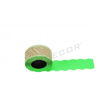 014093 Etiqueta verde 2 líneas, 26x16 mm. 8 rollos. Tridecor