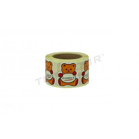 Pegatina, hau zuretzat Da. Eredu teddy bear. 500 pc. tridecor