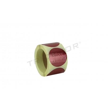 Itsasgarria etiketa, opari, Zoriontsu, oporretan, granatea . 250 pcs. tridecor