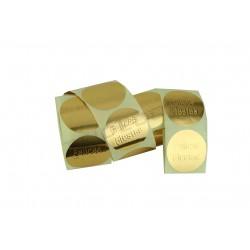 Etiqueta adhesiva, Boas Festas, de ouro. 250 pcs., tridecor