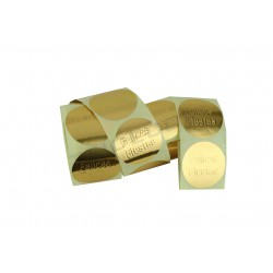 Adhesive label, Happy Holidays, gold. 250 pcs., tridecor