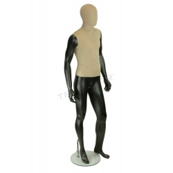 Mannequin man fabric and fiber glass matte black color.