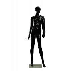 Mannequin female black gloss with factions