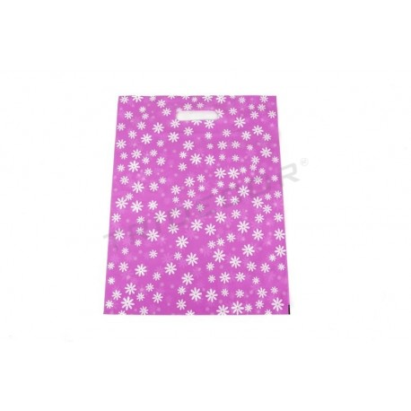 Plastic bags background fuchsia stamped
