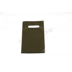 塑料袋模切处理,并增强16X25厘米,黑色和金色点