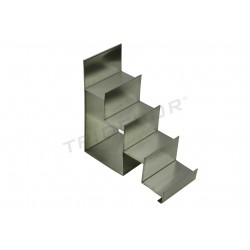 EXHIBITOR STAIRCASE STEEL MATTE 4 HEIGHTS