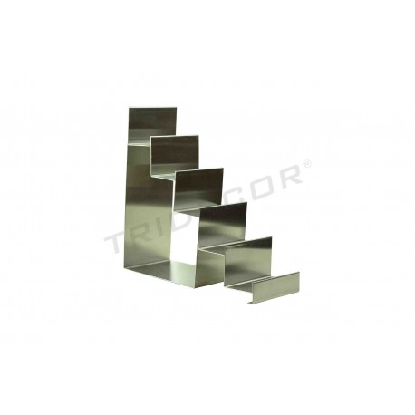EXHIBITOR STAIRCASE STEEL MATTE 5 HEIGHTS