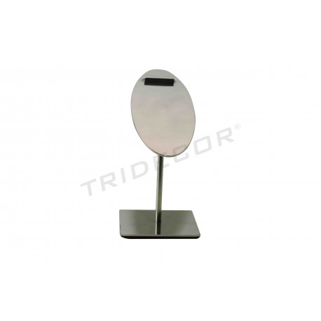 Expositor ovalado para calzado acero cromado, tridecor