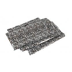BAG PLASTIC LEOPARD-PRINT WITH die cut HANDLE OF 35x45 CM 100 UNITS