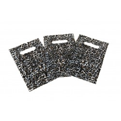 Bosses de plàstic leopard-impressió amb die tallar manejar 16x25 cm 100 unitats