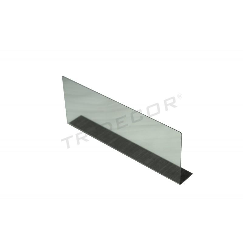 Separadores Para Estanterias Metalicas.Separador De Metacrilato Para Estanteria Metalica 39x15x5cm
